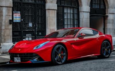 Parked Red Ferrari F12